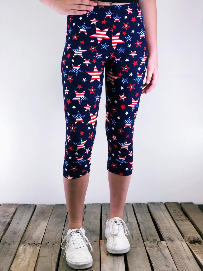 One Size Capri- Spangled Stars
