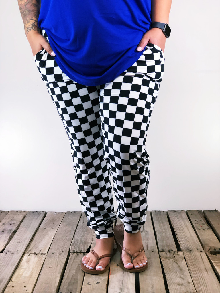 Plus Size Jogger- Start Your Engines