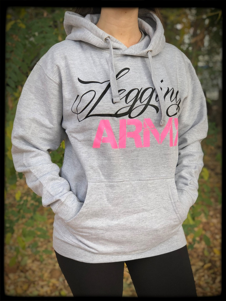 Legging Army Official  Sweatshirt- Light Gray & Pink