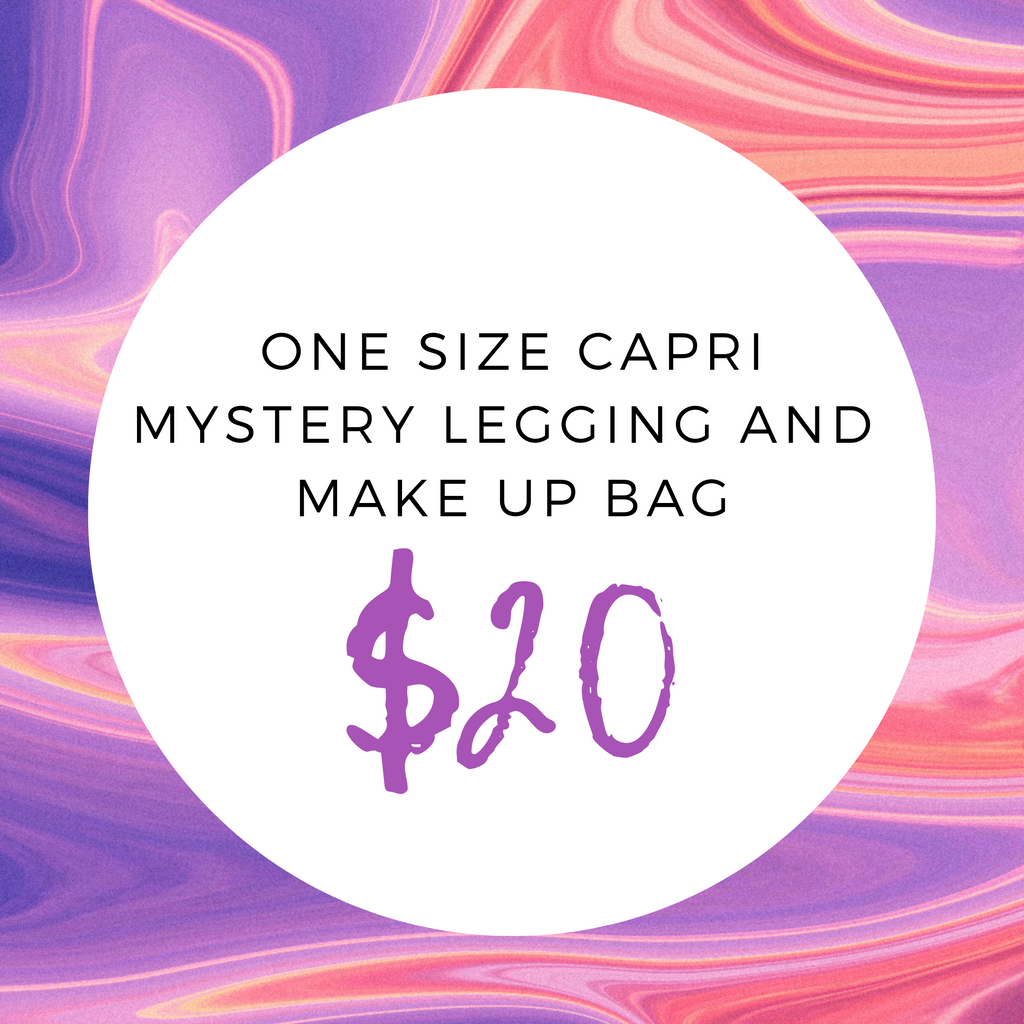 One Size Capri Mystery Legging And Make Up Bag