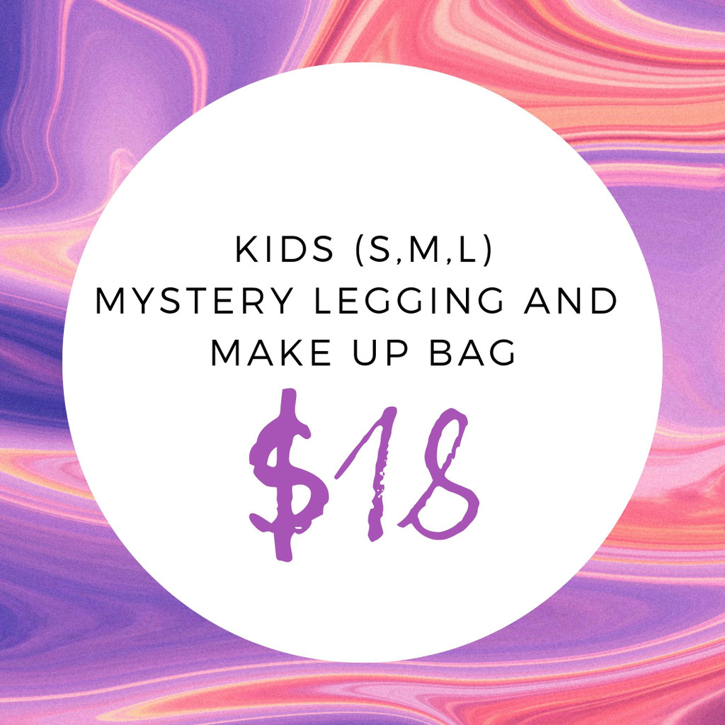 Kids (S,M,L) Mystery Legging And Make Up Bag