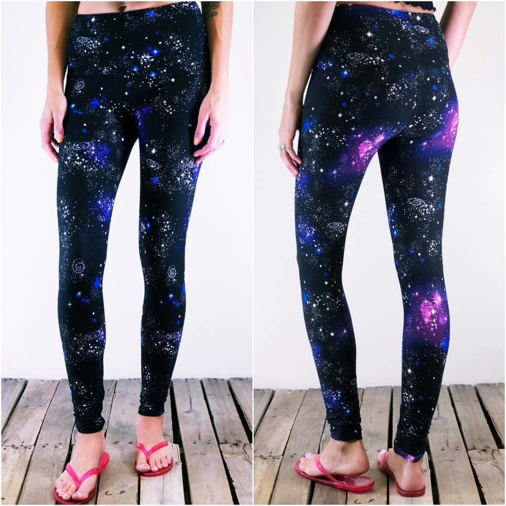 "Yoga 5"" Waistband- (Plus Size): Galactic Dreams"