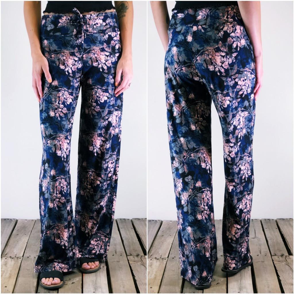 Pajama Pants - Dusty Blooms