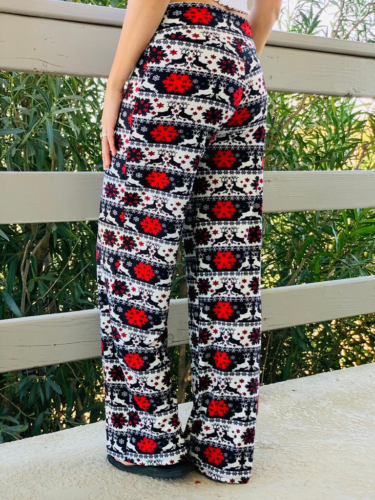Pajama Pants/ Lounge Pants - Christmas Doodles