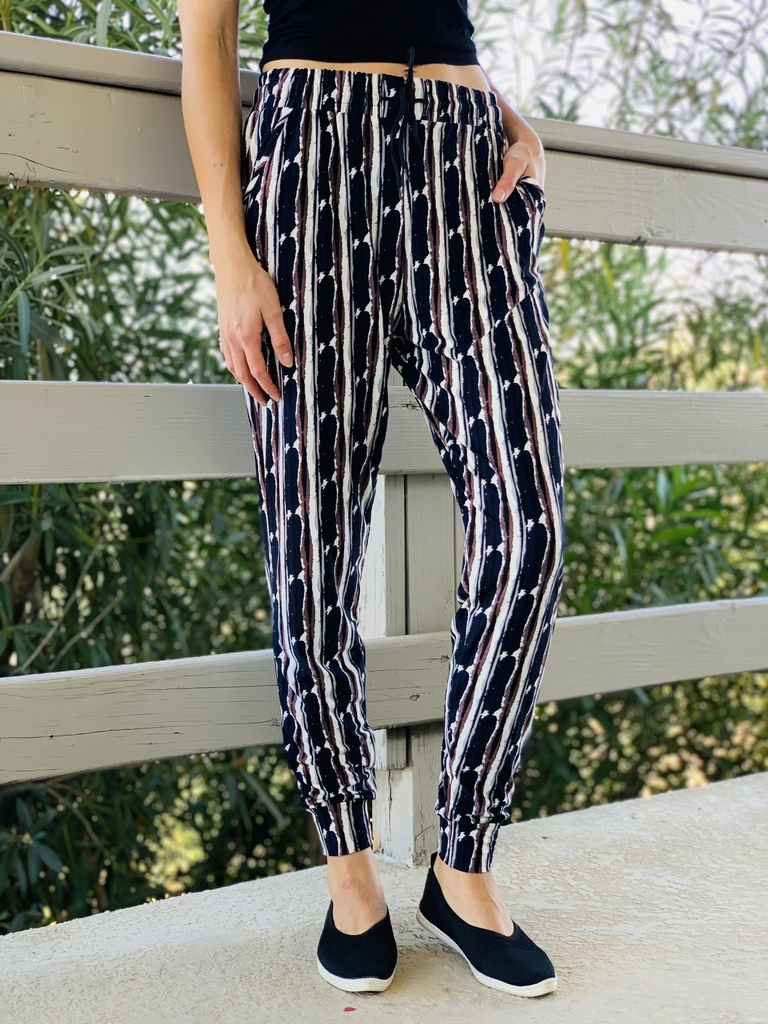 Jogger- Abstract Stripes