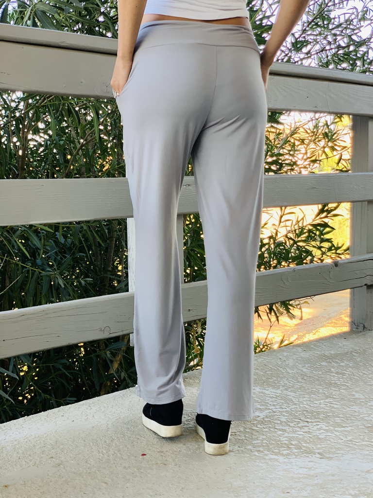 Pajama Pants/ Lounge Pants - Light Grey w/ Pockets