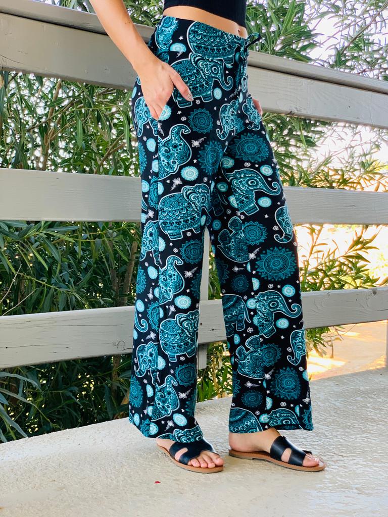 Pajama Pants/ Lounge Pants - Hennaphant w/ Pockets