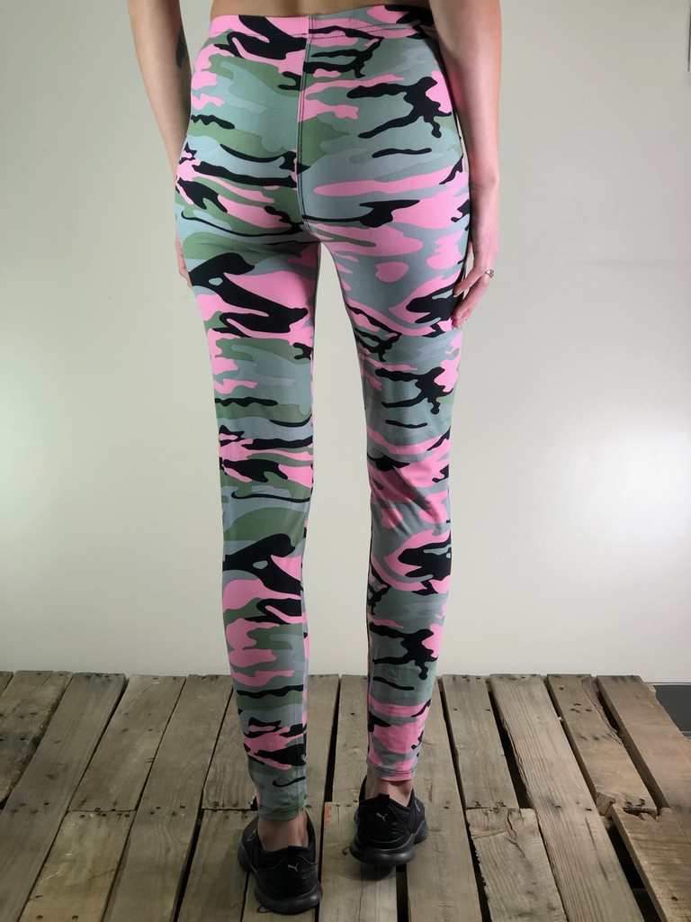 Plus Size- Stealth Pink Camo