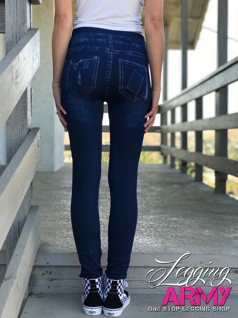 One Size Jeggings- American Beauty Rose