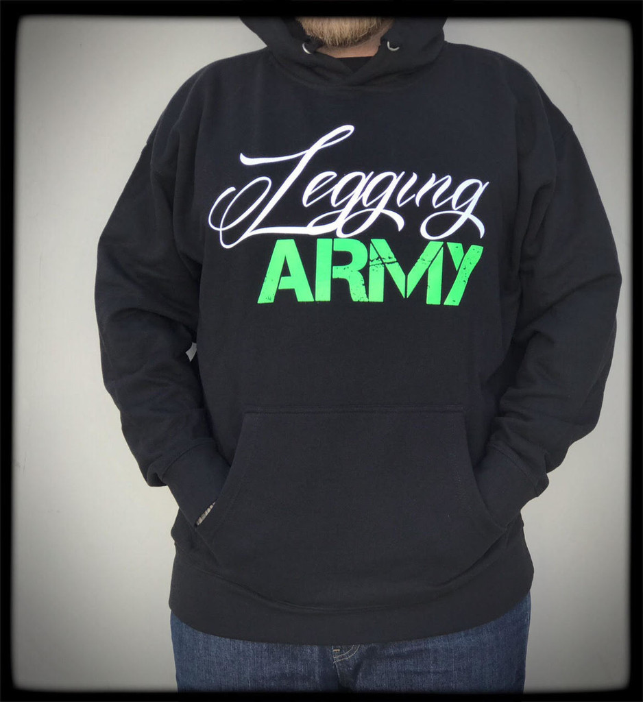Legging Army Official  Sweatshirt- Black & Green