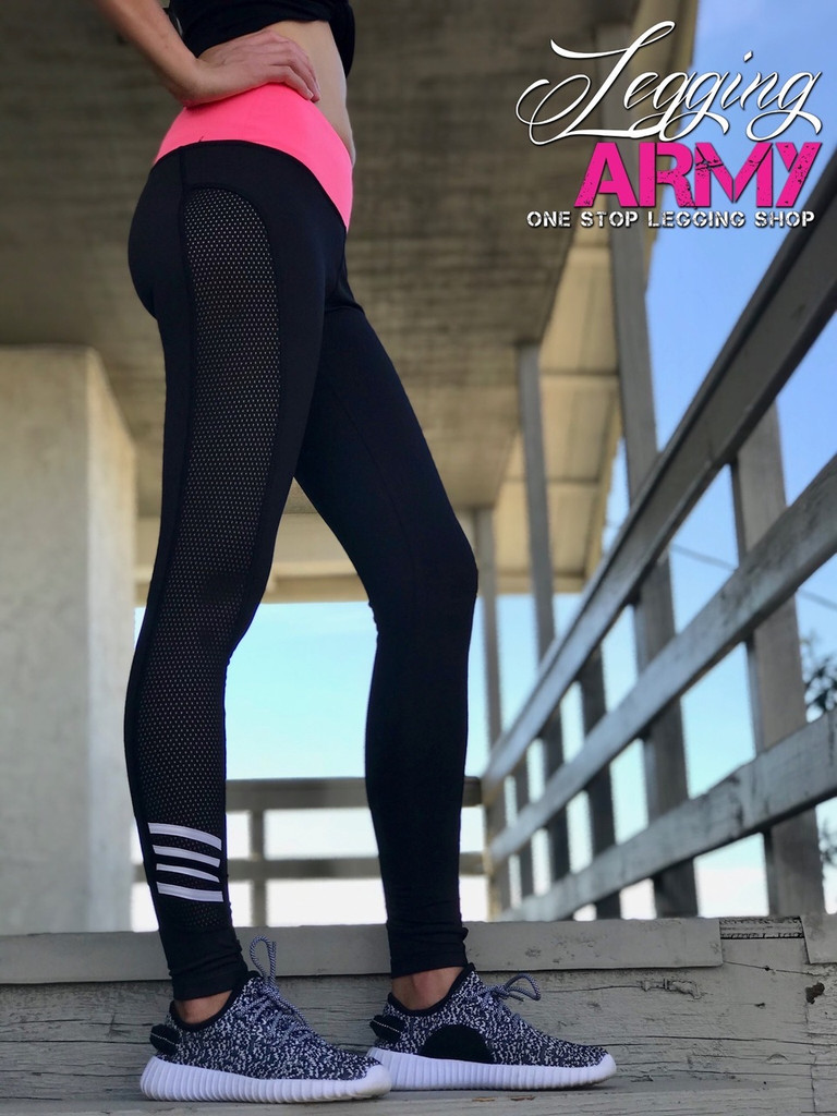 Activewear- Dashing: Black and Pink