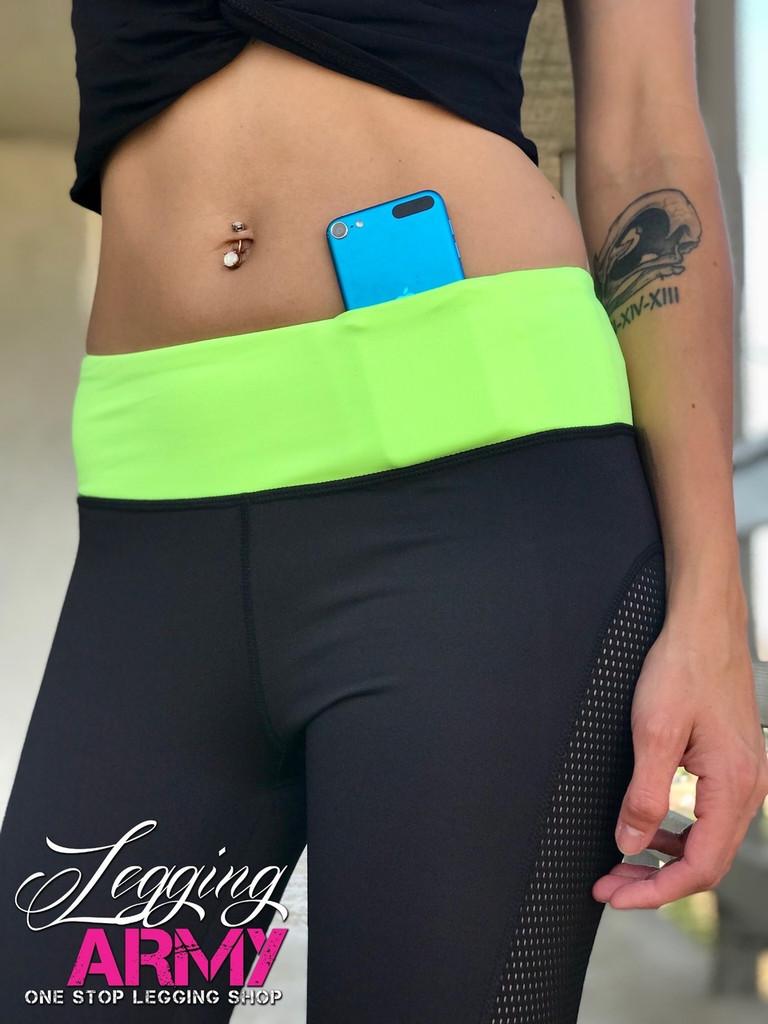 Activewear- Dashing: Black and Green