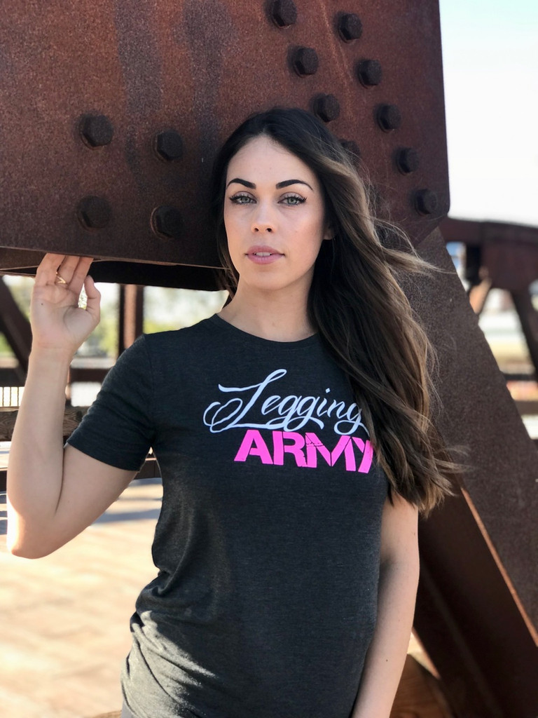 PS Official Legging Army T-Shirt- Maple- Charcoal