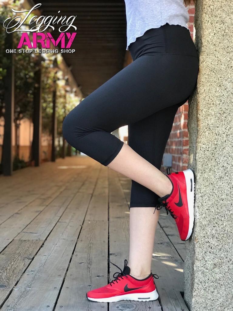 "Yoga 5"" Waistband Capri- Solid Black"