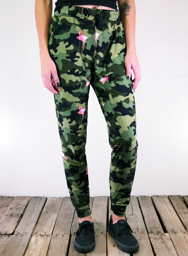 Jogger- Armed and Flocked (ARMY)