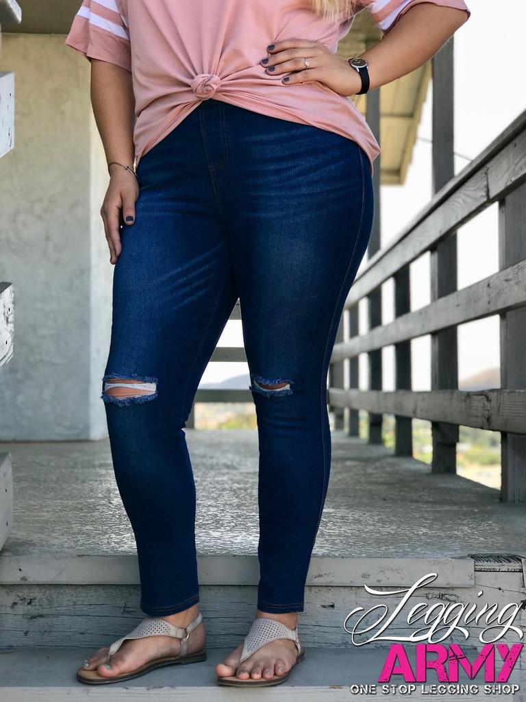 Plus Size Premium Jeggings- Beauty