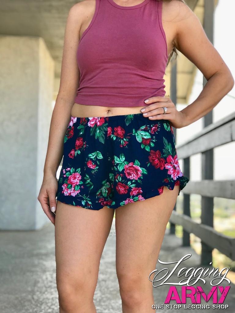 Shorts- Evening Roses