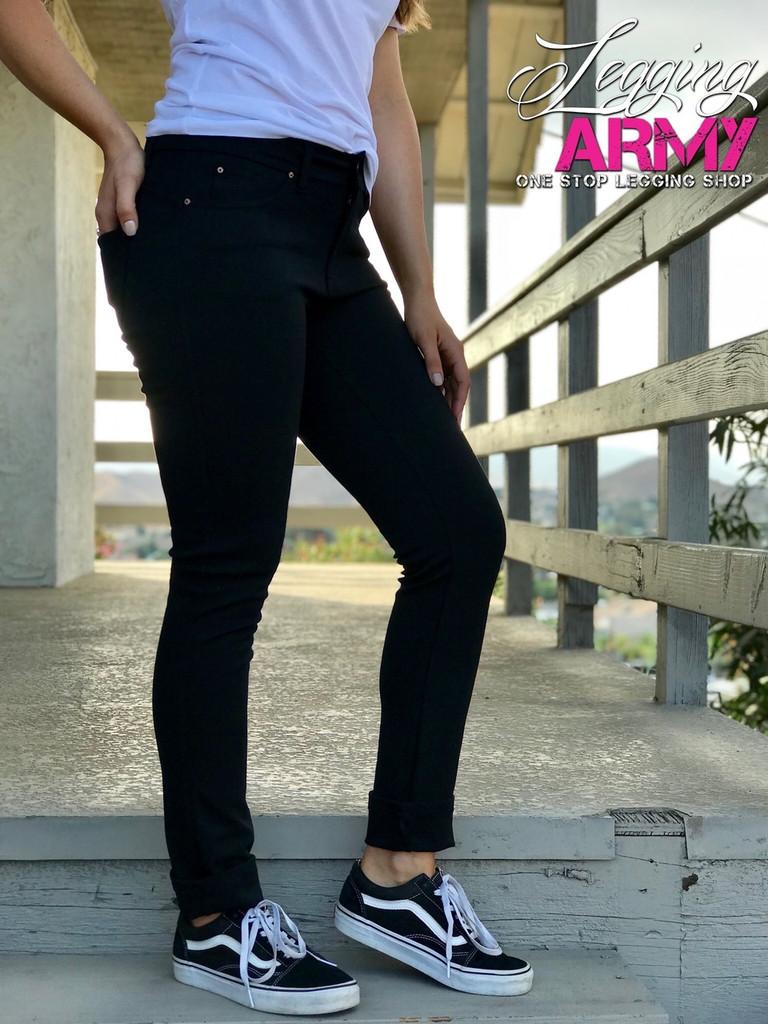 Push Up Pants- Black