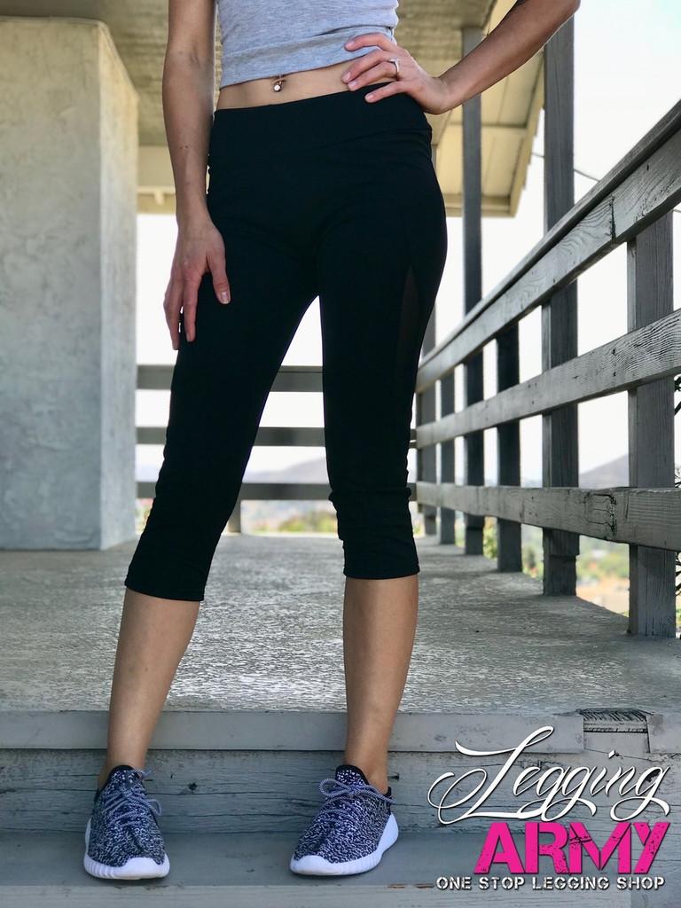 Capri Activewear- Solid Black