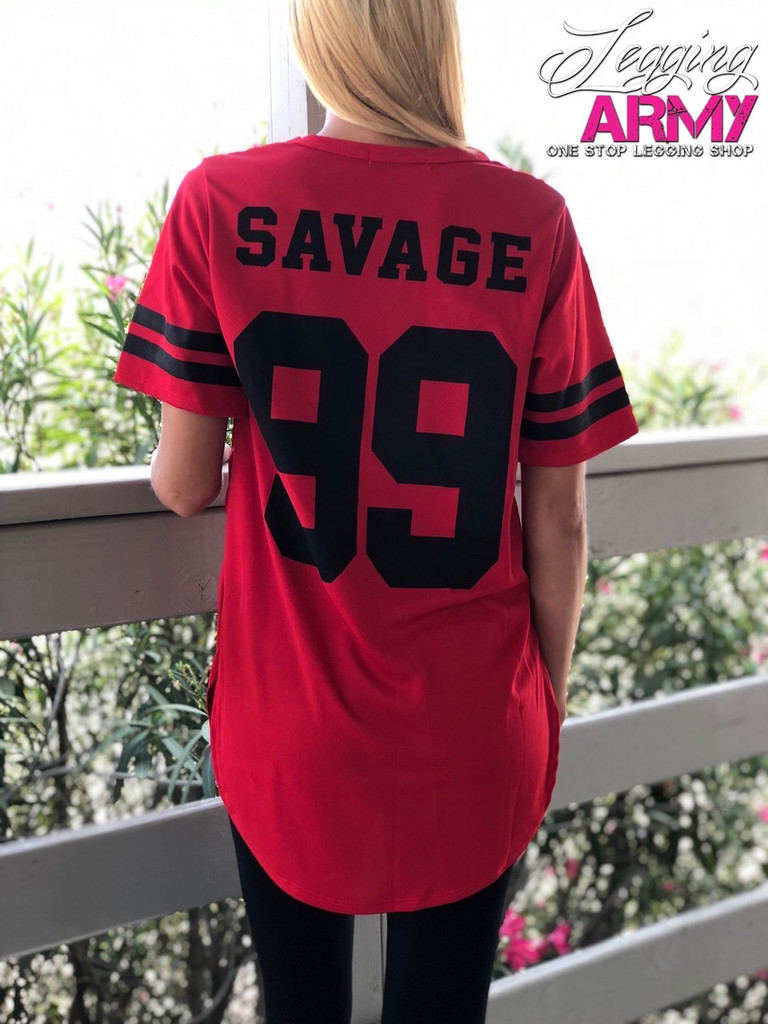 Savage Jersey- Red