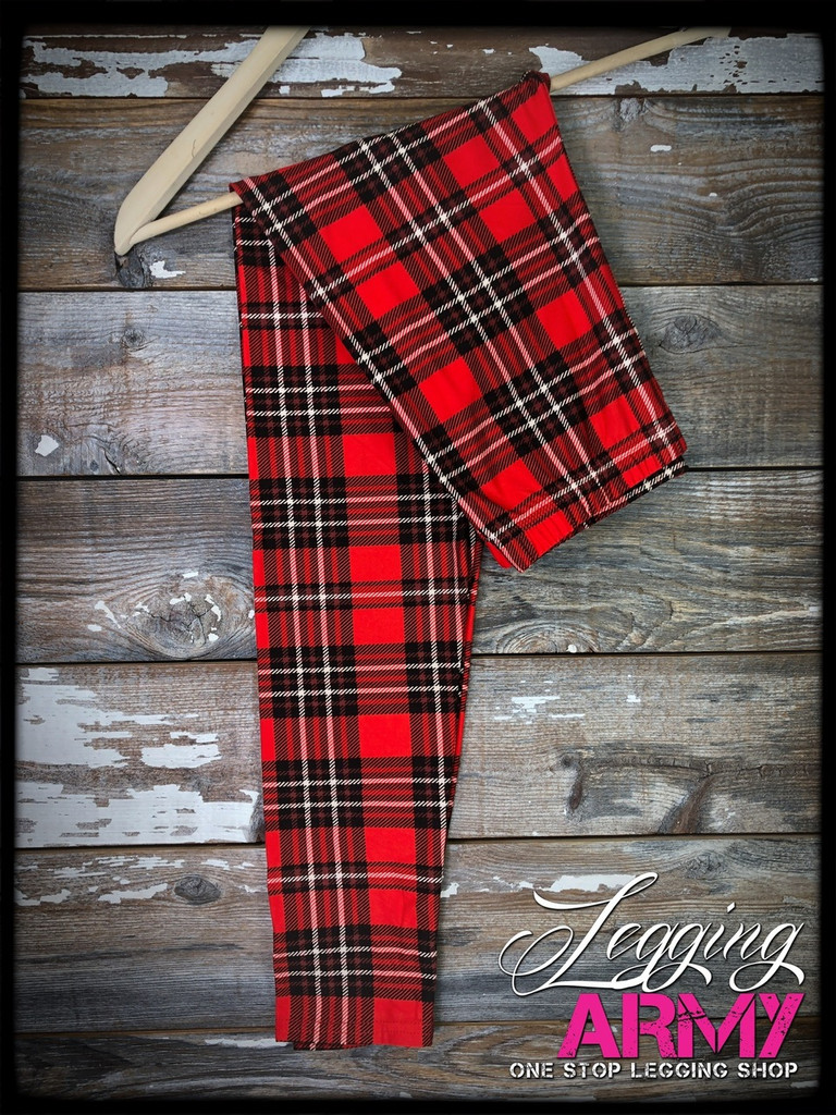One Size- Clad In Plaid