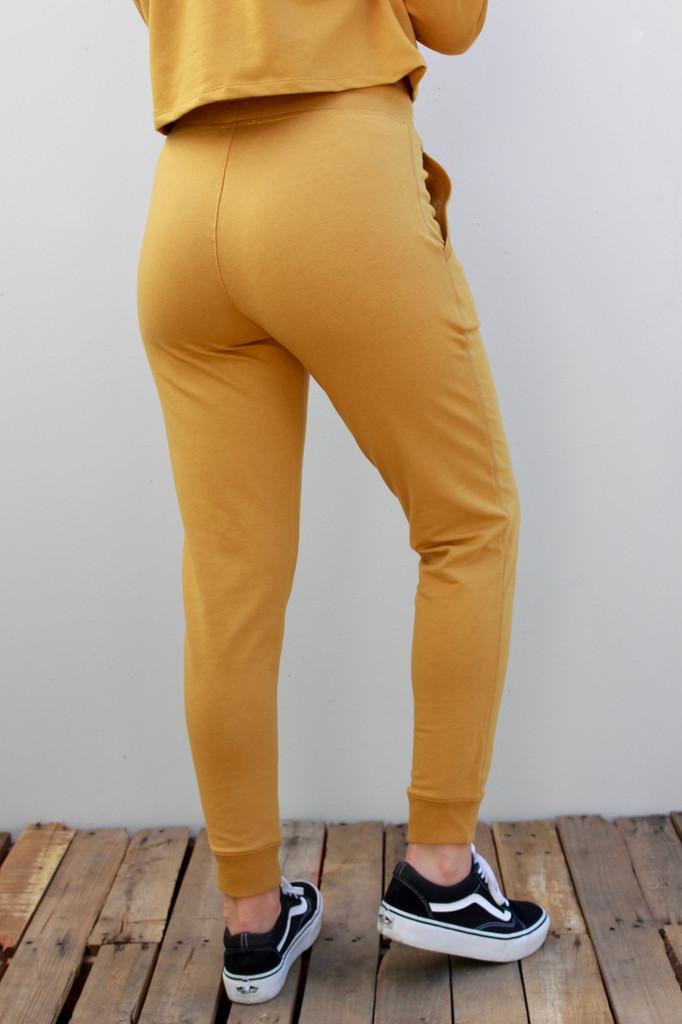 Cotton Joggers- Mustard