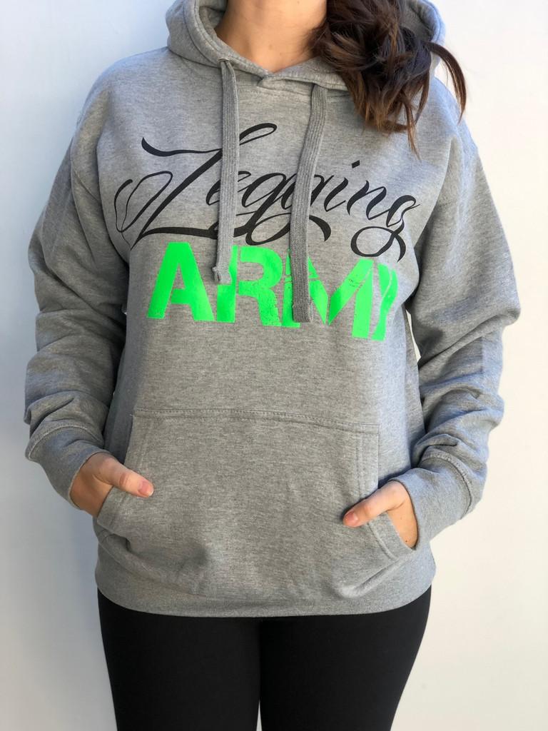 Legging Army Official Sweatshirt- Carbon Grey & Green