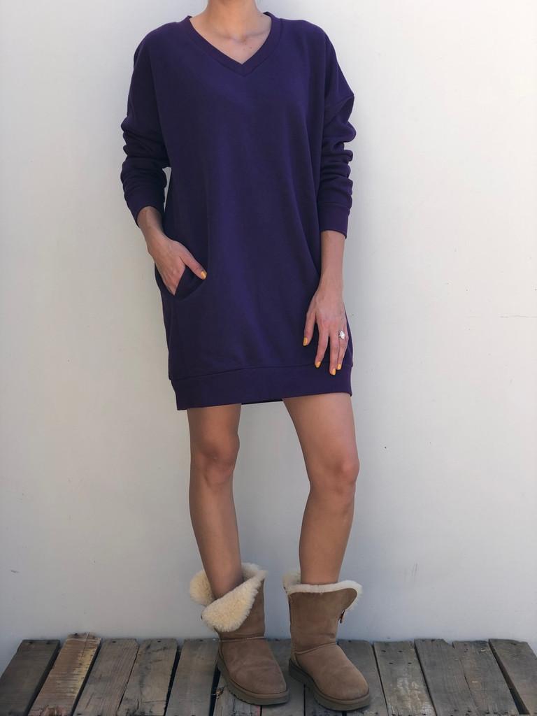 Long Sleeve Sweater- Dark Purple