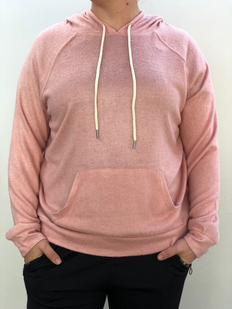 Plus Size Knit Pullover- Blush