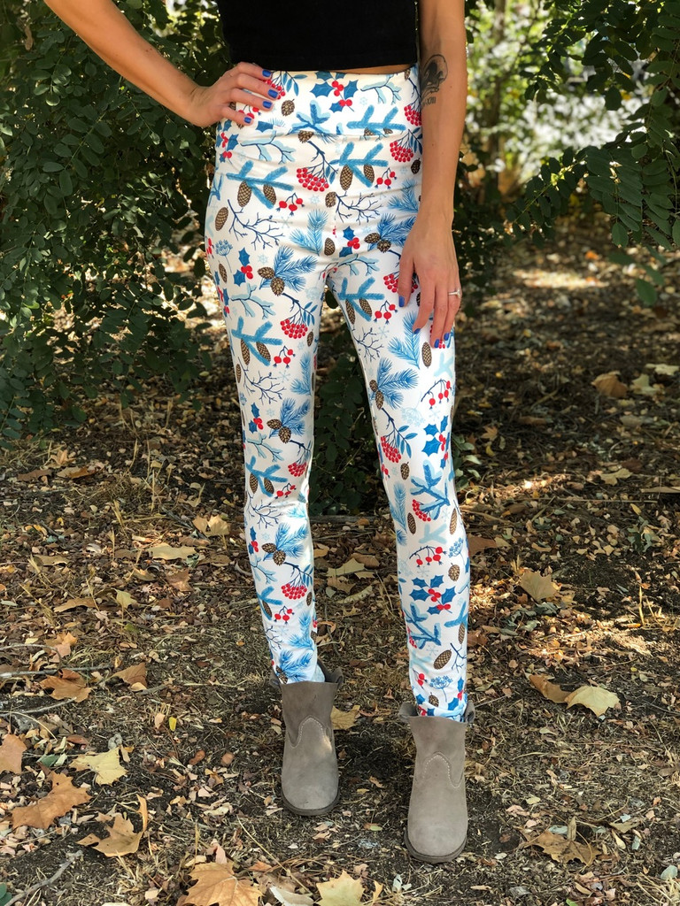 One Size Sublimation Yoga Waistband- Winter Berries