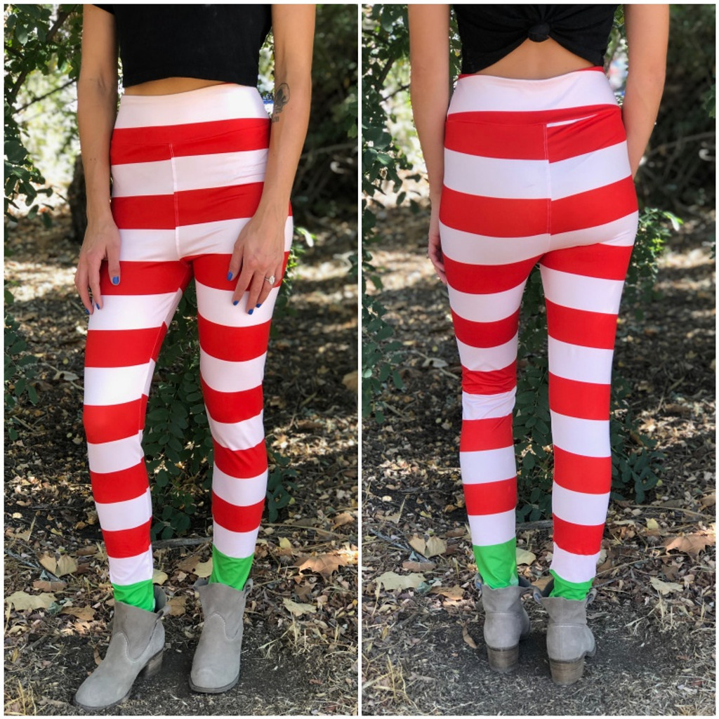 Sublimation Yoga Waistband- Elf On The Shelf