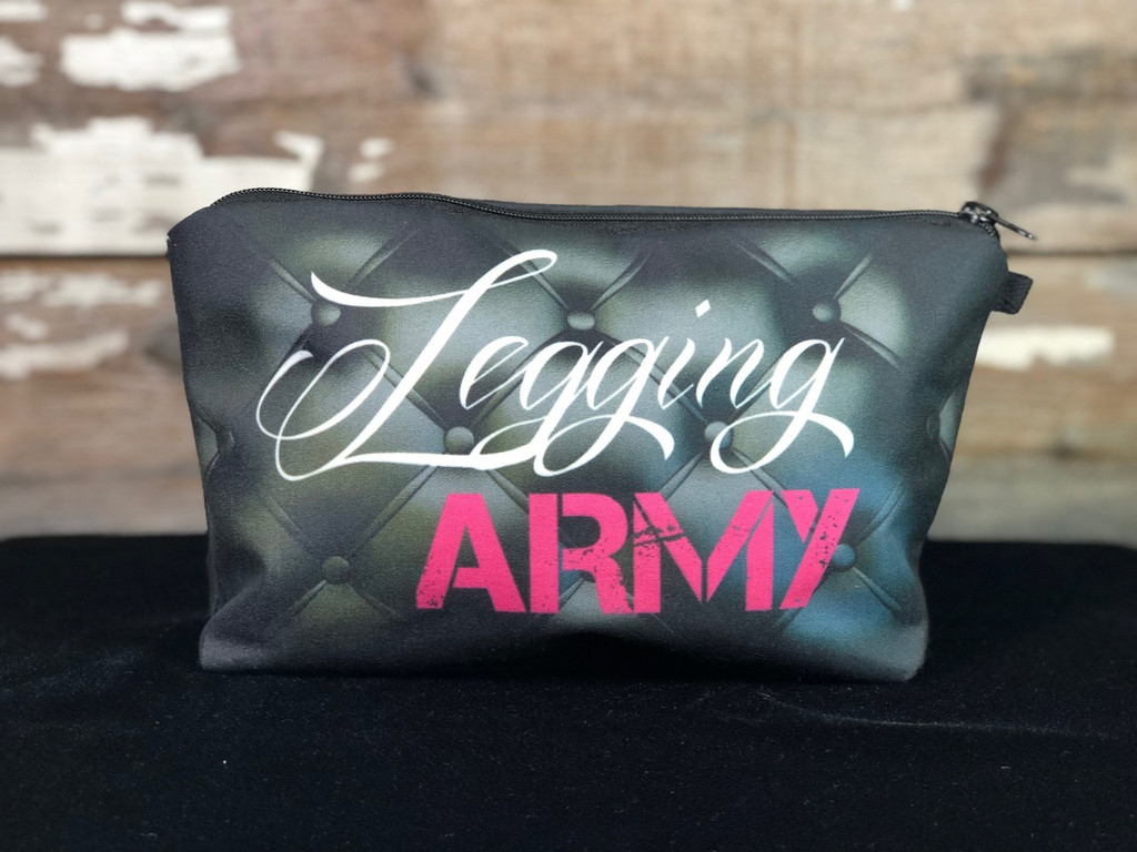 Legging Army Makeup Bag- Black And Pink