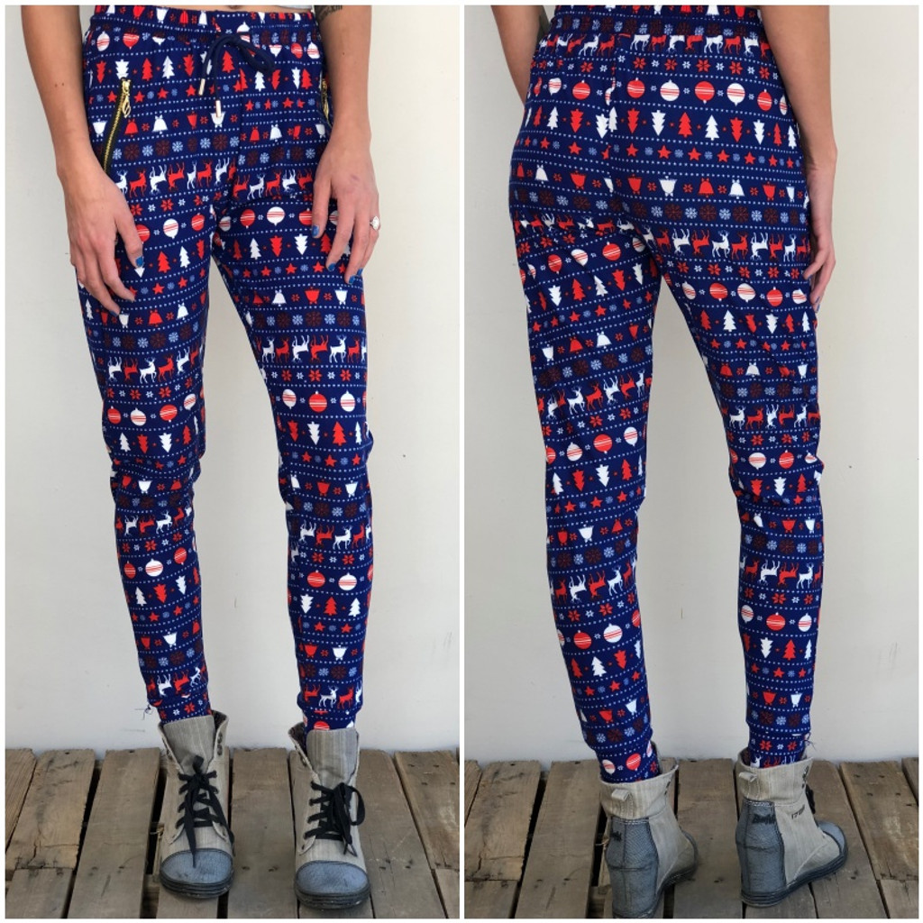 One Size Jogger- American Christmas