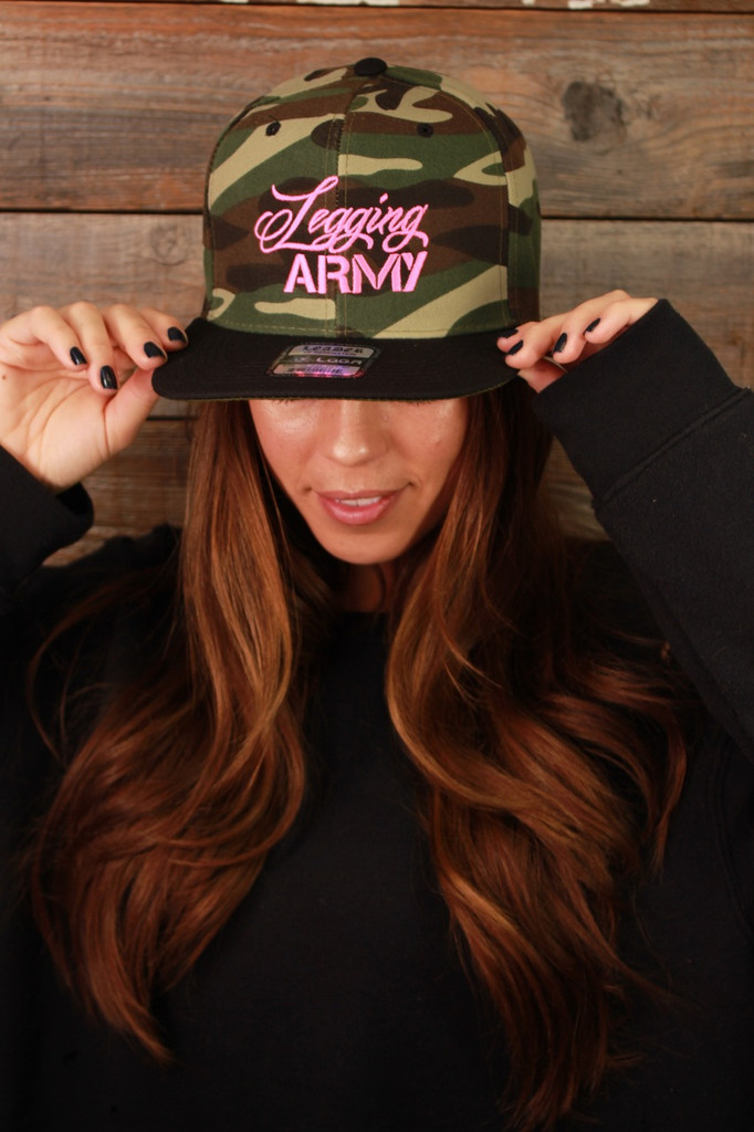 Official Legging Army Hat- Camo And Pink