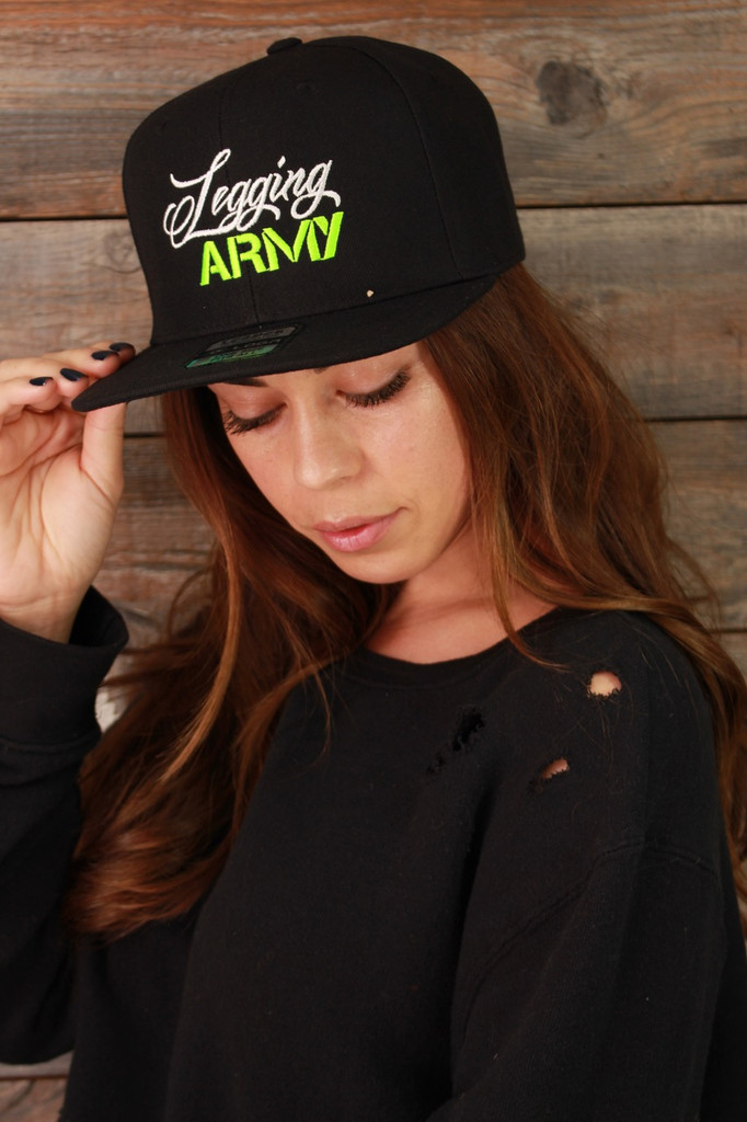 Official Legging Army Hat- Black, Green And White