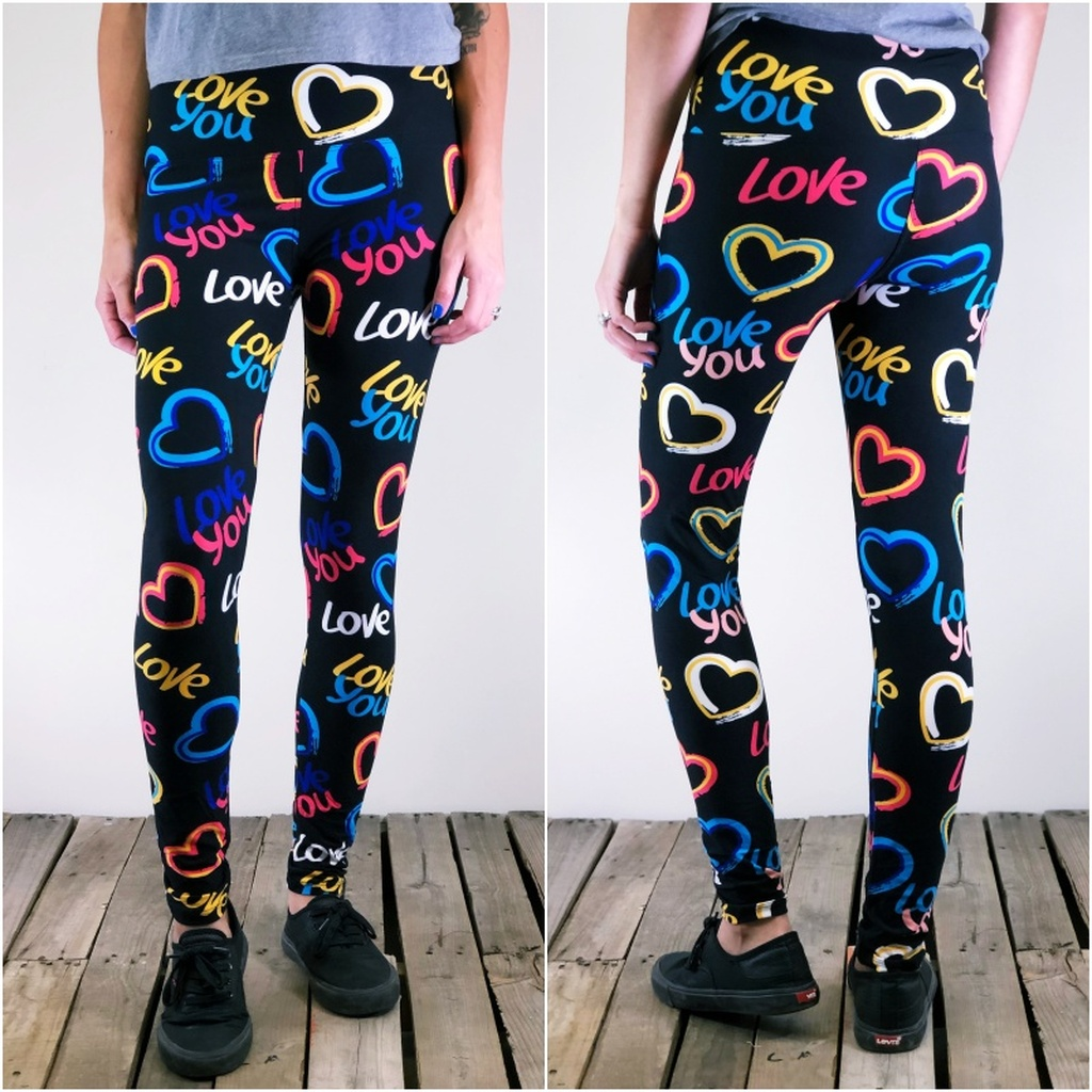 "Yoga 5"" Waistband- (One Size): All You Need Is Love"