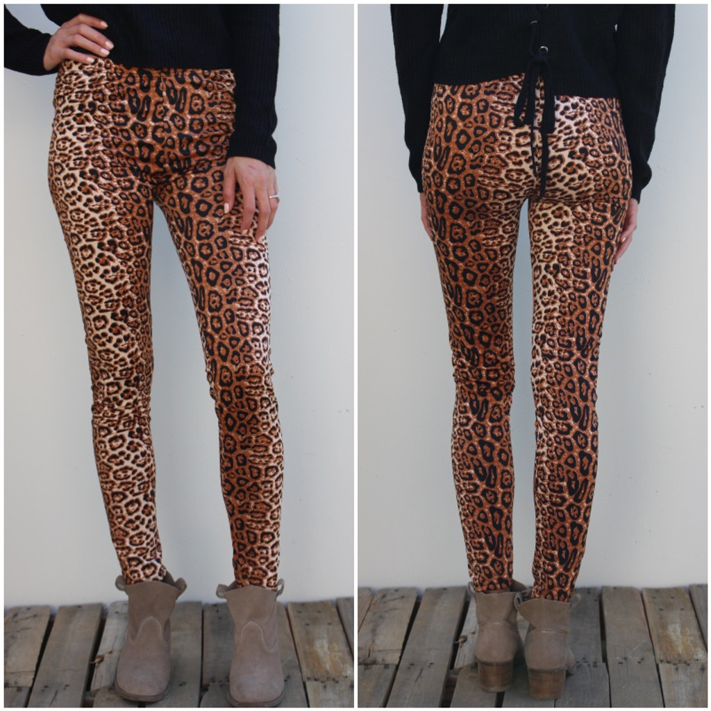 One Size Fleece- Cheetah