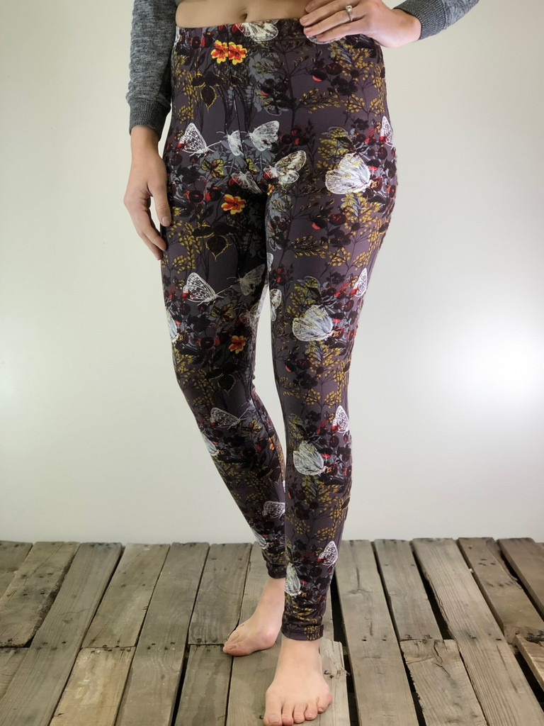 895ff4a7fb4d77 One Size- Among Wildflowers - Legging Army