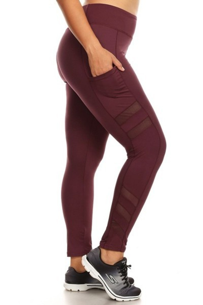 Plus Size Activewear Mighty- Burgundy