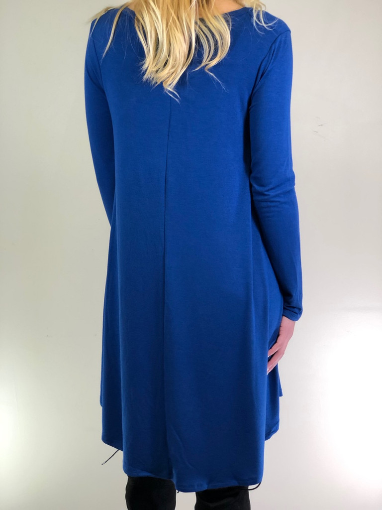 Plus Size Long Sleeve Dress: Sapphire