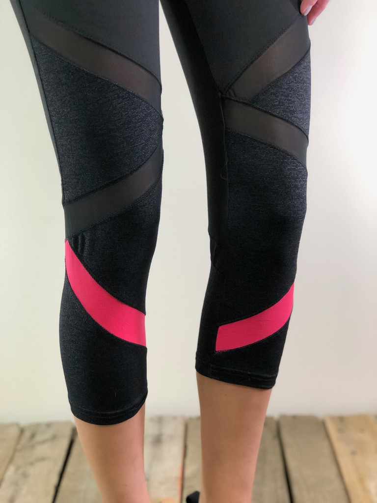 Capri Activewear- Black And Pink