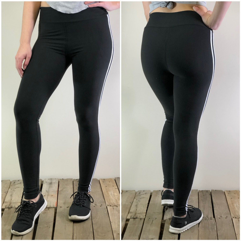 Yoga With Two Stripes- Black