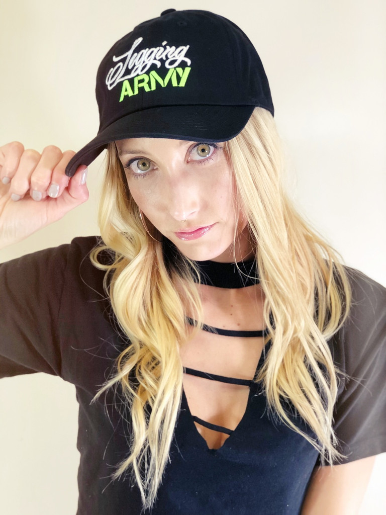 Official Legging Army Dad Hat- Green And White