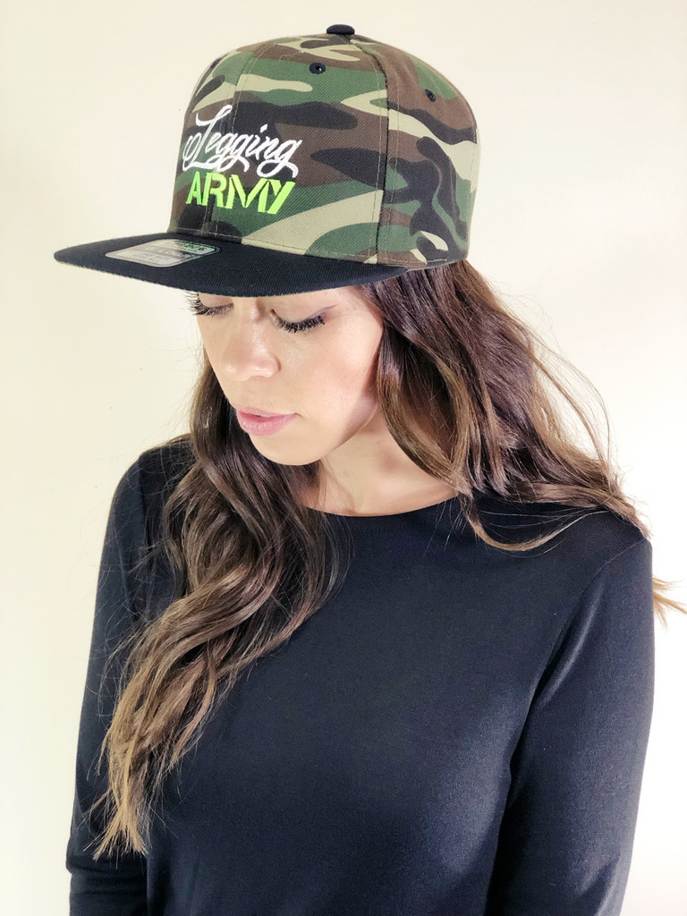 Official Legging Army Camo Hat- Green And White