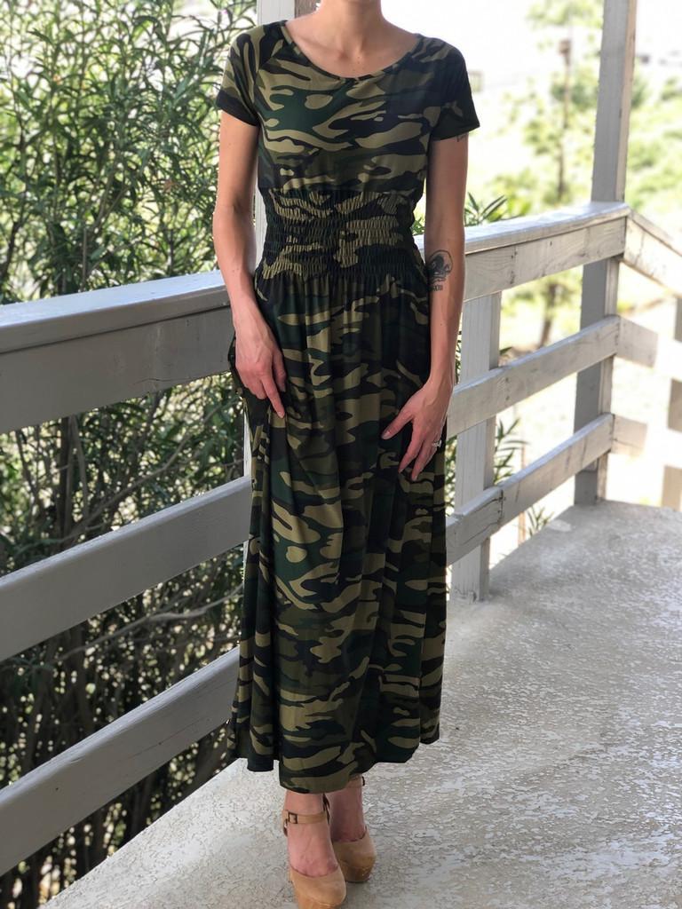 One Size Long Dress- Original Camo