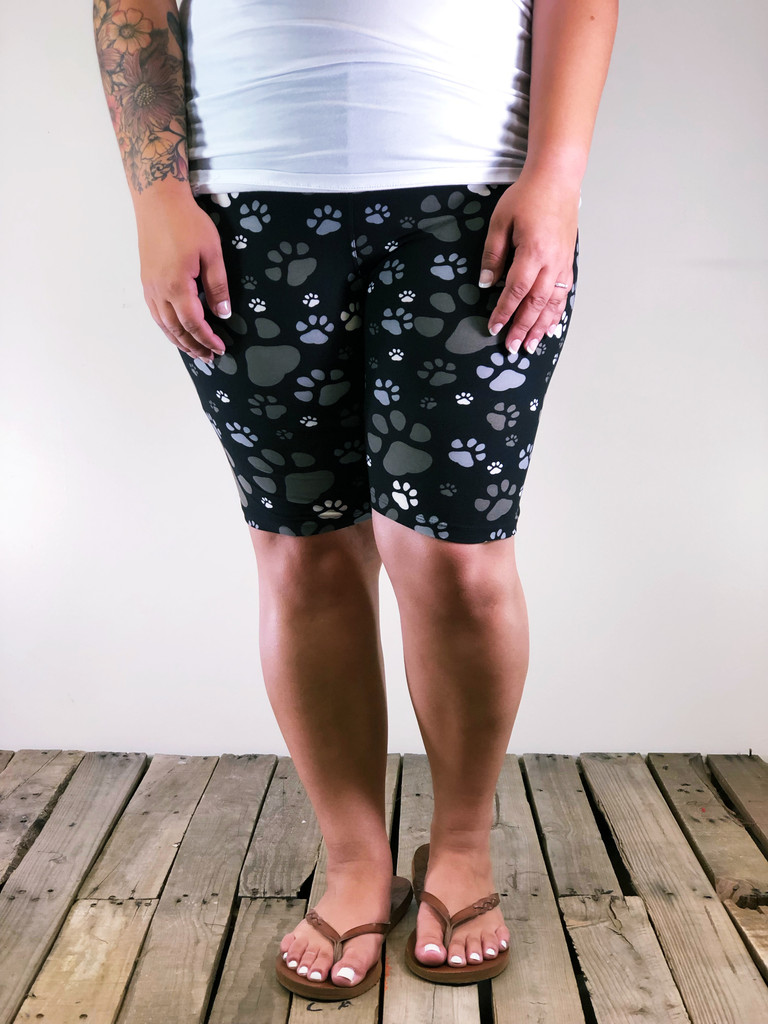 Plus Size Bike Shorts- Pawesome
