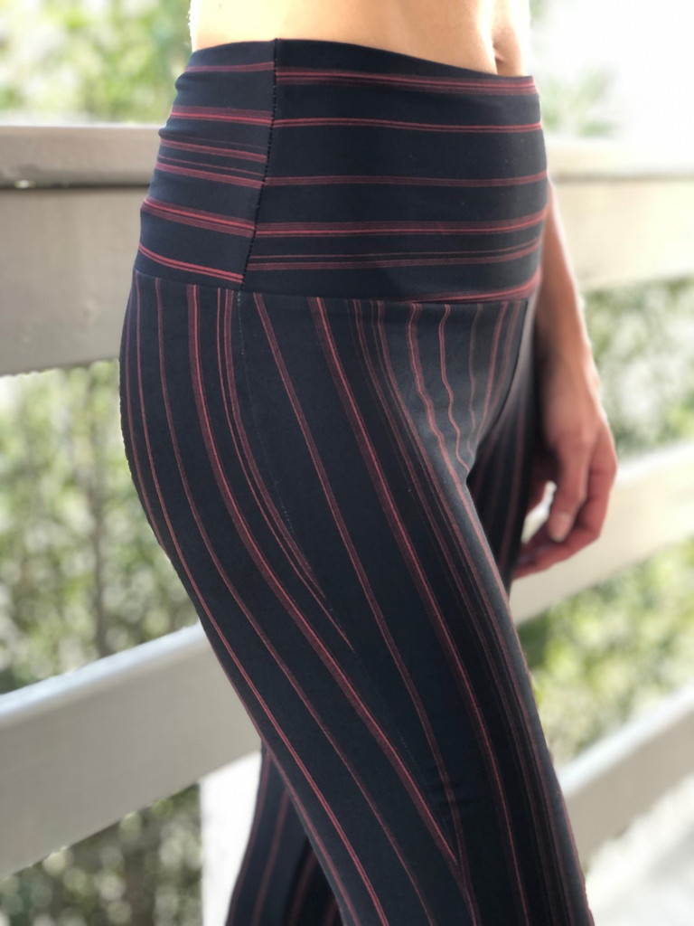 Palazzo Pants- Black And Red