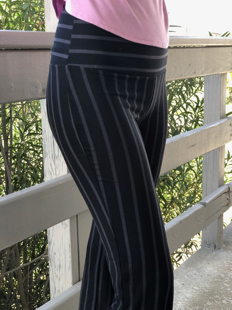 Palazzo Pants- Black And Dark Grey