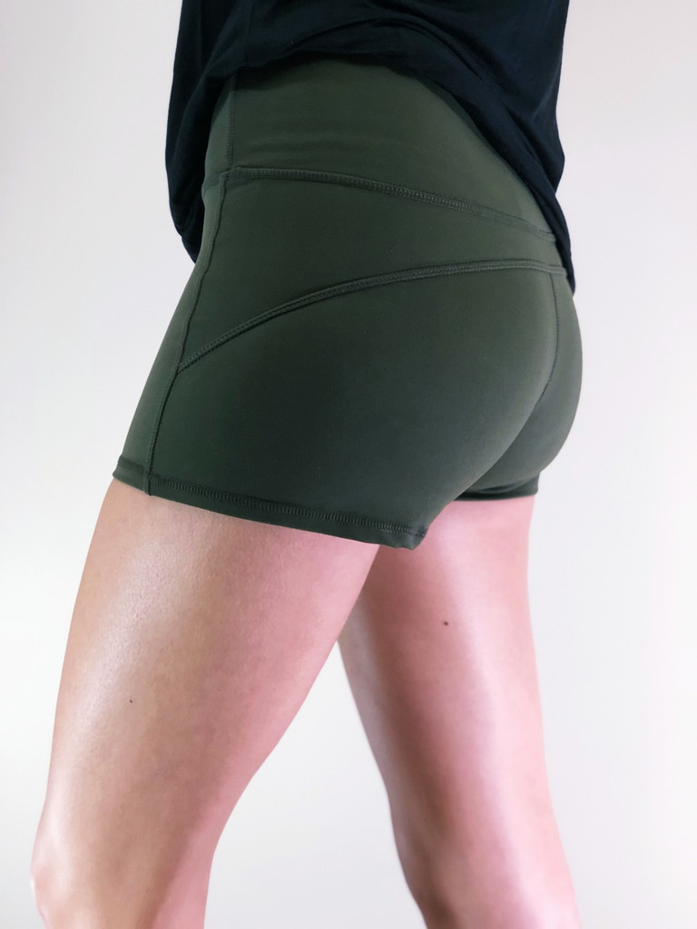Athletic Shorts- Olive
