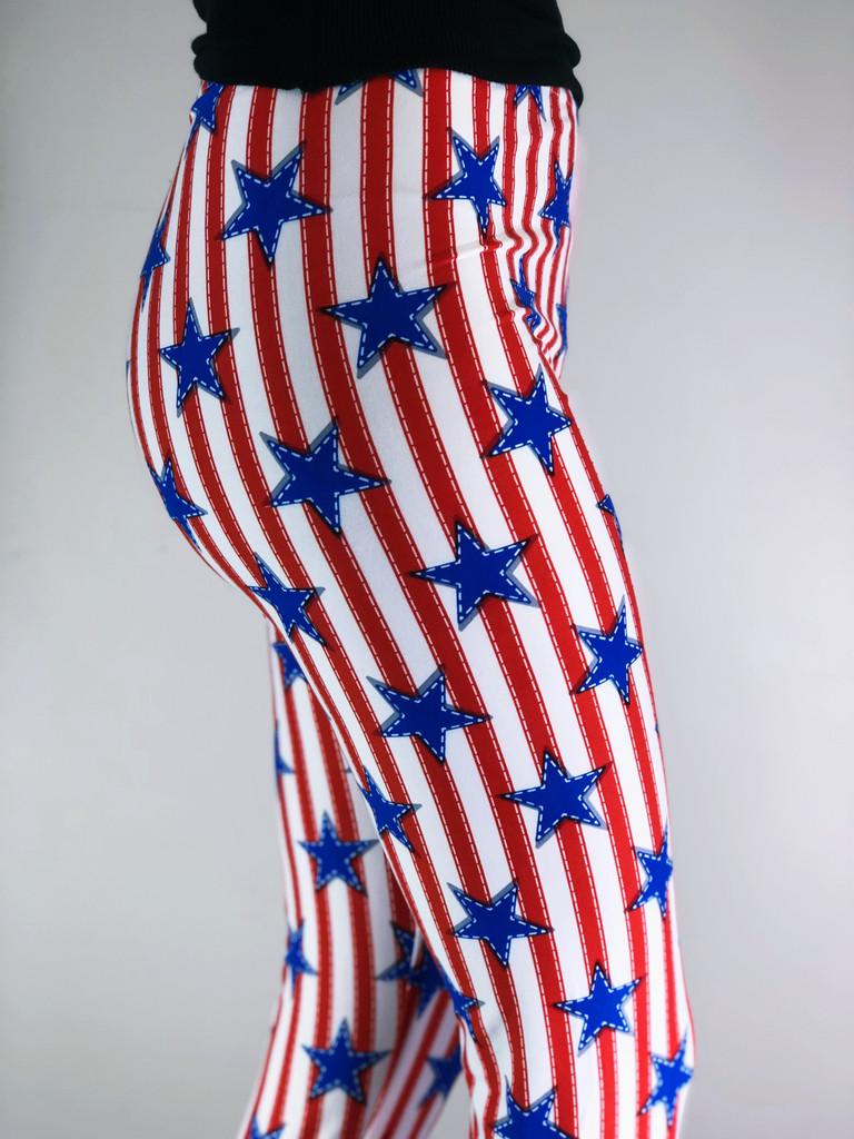 One Size Capri- Betsy Ross